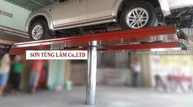 Cầu Nâng Rửa Xe Ô Tô Sơn Tùng Lâm Đạt Tiêu Chuẩn Kiểm Định An Toàn Kỹ Thuận