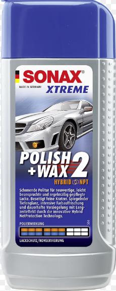DUNG DỊCH ĐÁNH BÓNG-BẢO VỆ SƠN 2 TRONG 1 - SONAX XTREME WAX 2 IN 1 HYBIT NPT