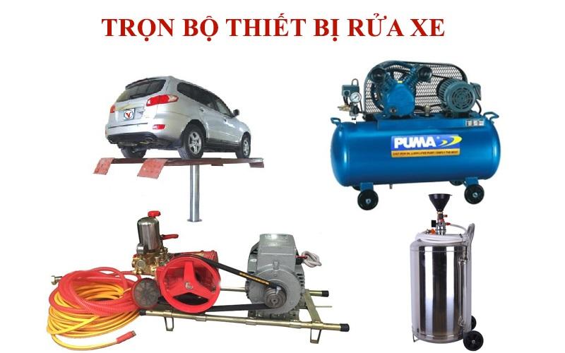 Tiệm rửa xe ô tô chuyên nghiệp luôn cần trọn bộ thiết bị rửa xe
