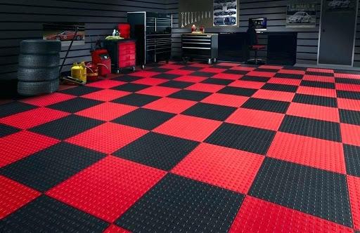 Tấm lót sàn nhựa tạo khối 3D