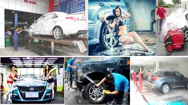 Xưởng rửa xe chuyên nghiệp, nhanh chóng, uy tín