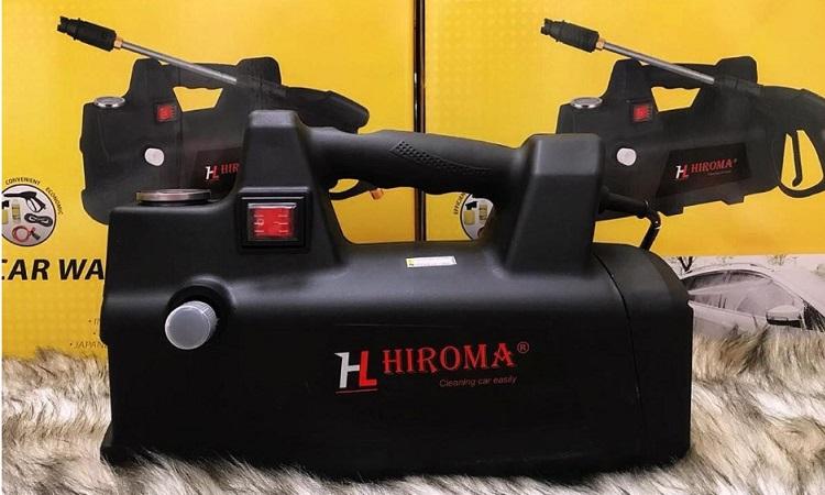 Máy rửa xe Hiroma với thiết kế nhỏ gọn